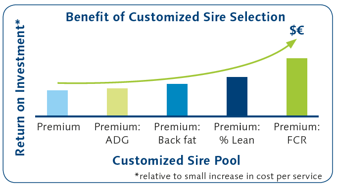 Benefit of Customized Sire Selection