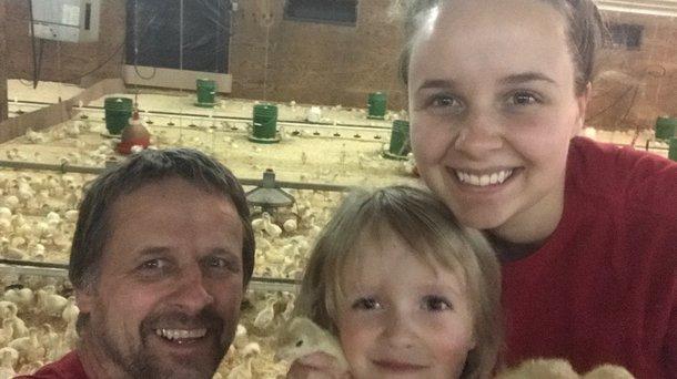 Orsten poult placement selfie