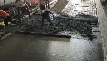 shipping bay construction Beresford June2018
